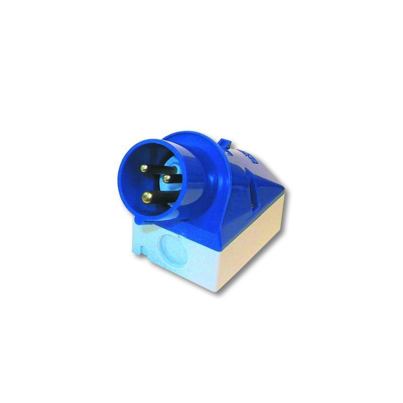 CEE-Einbaustecker 220V 3x16A, Kupplungssteckd. Einbau 3-pol.